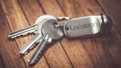 Obraz trousseau de clés :  location - fototapety do salonu