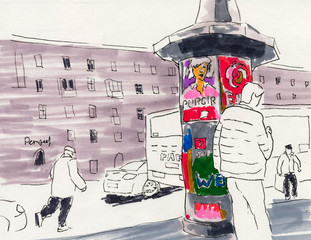 City Sketch Point to Public Transport