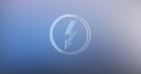 Lightning Shock Glass 3d Icon