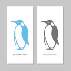 Penguin card. vector illustration banner