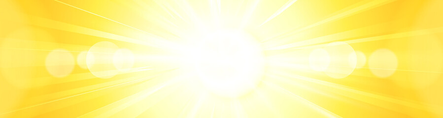 Abstract vivid bright yellow orange sun burst panorama backgroun