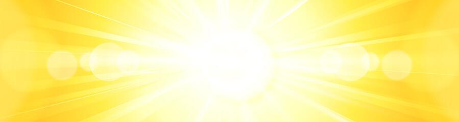 Abstract vivid bright yellow orange sun burst panorama backgroun