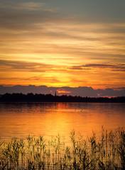 Golden sunset at lake Saadjärv, Estonia