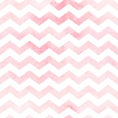Seamless watercolor chevron pattern in red. Seamless pattern.