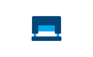 Vector flat modern stapler tool icon