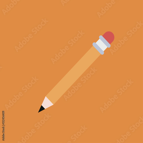 quotpencil icon flat designquot stock image and royaltyfree