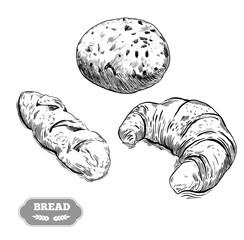 Hand drawn decorative bread bakery