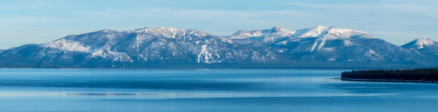 Panoramic image of South Lake Tahoe