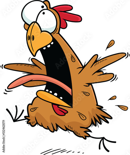 """Cartoon Crazy Chicken"" Stock image and royalty-free ..."