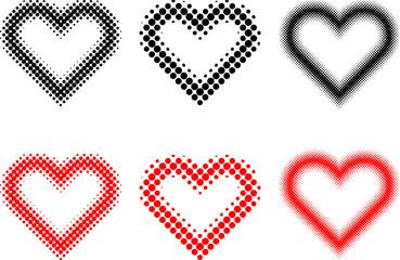 heart set , Valentine heart, vector set