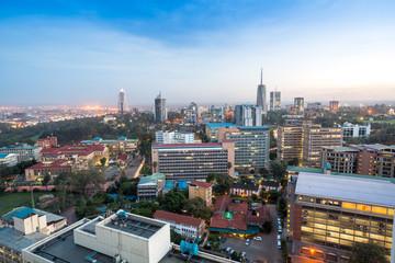 Nairobi cityscape - capital city of Kenya Wall mural