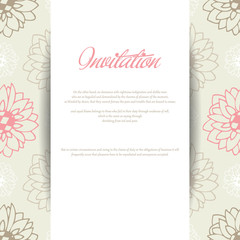 Floral design with sunflowers for wedding invitations or birthday cards