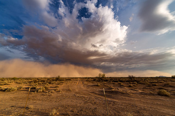 Haboob dust and sand storm