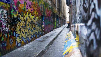 Graffiti art alley way