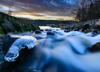 Wild blurred water stream