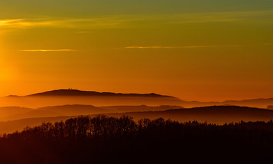Colorful sunset photography VI