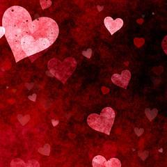Grunge hearts Valentines Day background
