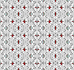 Seamless gothic cross wallpaper background. Textile pattern.