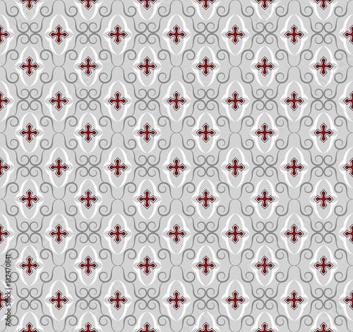 Seamless Gothic Cross Wallpaper Background Textile Pattern