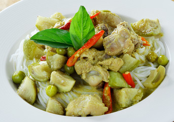 Green chicken Curry , Thai cuisine