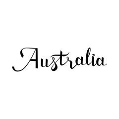 Australia lettering and calligraphy, icon, emblem typographic design