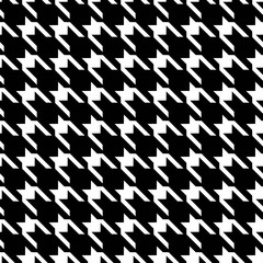 Seamless houndstooth pattern wallpaper. Seamfree hounds-tooth vector background.  Textile fashion pattern.