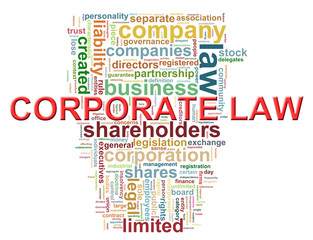 Corporate law word tags