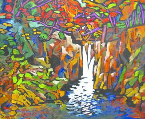 渓流・合流の滝