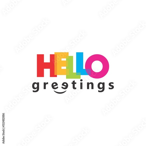 Hello Greeting Letter Word Logo Vector Fichier Vectoriel