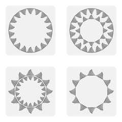 monochrome icon set with Springs
