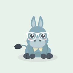 Cute donkey cartoon.