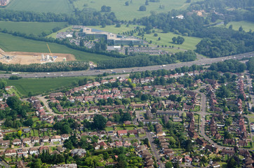 Datchet village and Ditton Park, aerial view