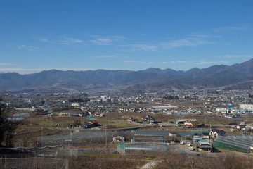 Scenery from Yamanashi prefecture train window