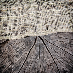 natural linen and cracked wood texture for the background