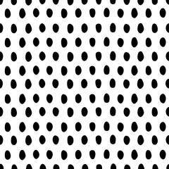 Hand-drawn dots symmetric seamless pattern. Black and white. - 132491859