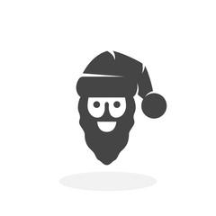 Santa Icon. Vector logo on white background