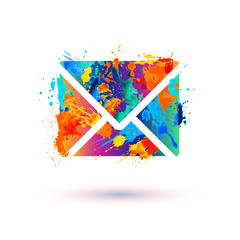 Envelope icon. Message sign
