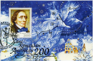 BELARUS - 2005: shows Hans Christian Andersen (1805-1875)