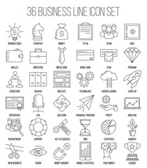 Business icons. Start up and management signs.