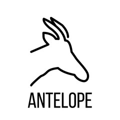Antelope icon or logo in modern line style.