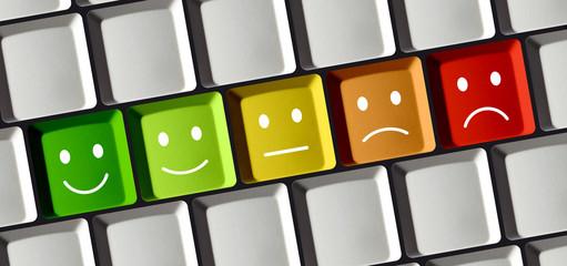 Emoticons auf Tastatur