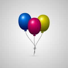 Векторная иллюстрация иконка простой символ плоский для веб balloon воздушный шарик шарики надувные