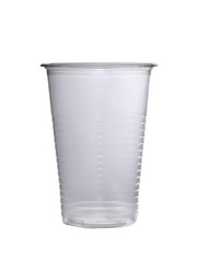 glass made of transparent plastic, disposable