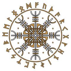 Aegishjalmur, Helm of awe (helm of terror), Icelandic magical staves with scandinavian runes