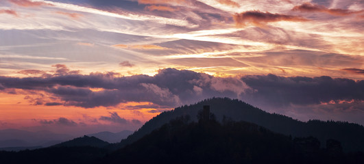 Sunset in germany - palatinate