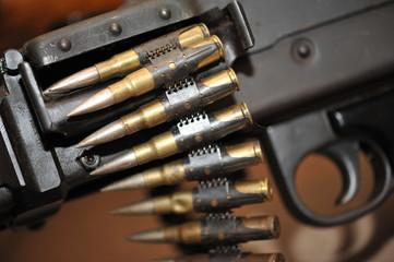 bullets and machinegun