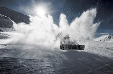 Descente en snowboard et dérapage