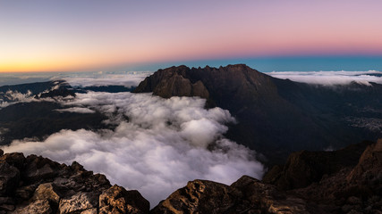 Piton des Neiges, highest peak of Reunion Island, part of the Unesco Word Heritage