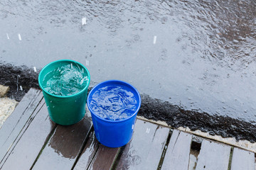 rain drop in bucket water, weather rainy season