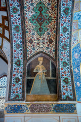 Details of pavilion in Historical Fin Garden in Kashan city, Iran
